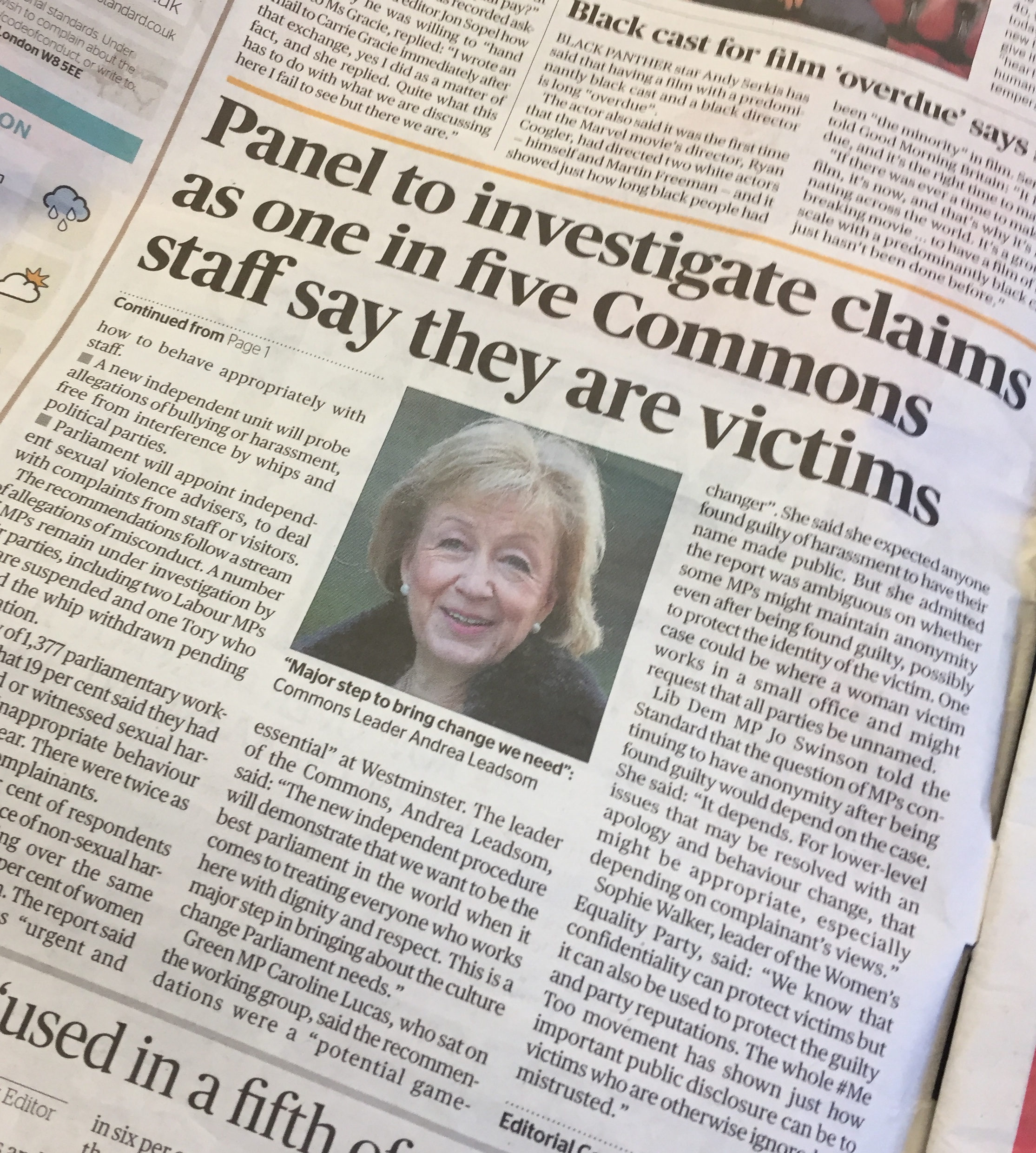Evening Standard 8 Feb